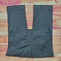 Ann Taylor Loft Julie Dress Pants Women Size 10 Black High Rise Waist Stretch