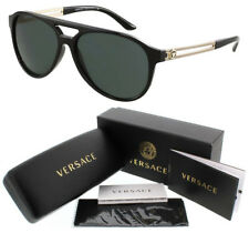 New Authentic VERSACE VE4312 GB1/71 SUNGLASSES Black, Gray Green
