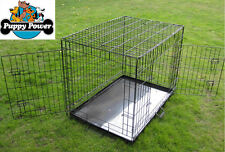 "48"" 2-DOOR DOG CRATE HEAVY DUTY, DUAL LOCKING, 122CM - XXL"