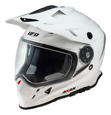 UFO Adventure off Road Enduro Helmet Akan 2019 White Large (59-60cm)