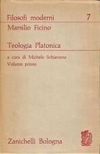 MARSILIO FICINO TEOLOGIA PLATONICA 2 volumi completo 1965 Zanichelli
