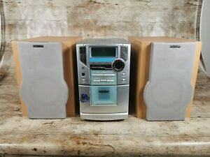 Philips Model MC-20/22 Micro System CD Player Radio Cassette Tape with Speakers