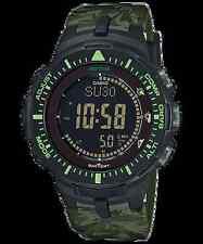 Casio Pro Trek PRG-300CM-3D Solar Compass Camouflage Green Resin Sport Watch