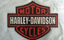 HARLEY DAVIDSON MOTORCYCLES.  CAST IRON WALL SIGN. New.