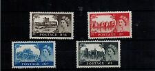 COMPLETE SET 1958 CASTLES 1st DE LA RUE  SG 536A - 539a MNH