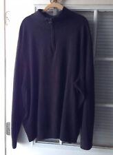 Dockers Men's Size 3XLT Black 1/4 Zip Long Sleeve Sweater
