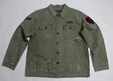 Polo Ralph Lauren Military field and country shirt distressed size Large