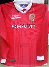 Ryan Giggs Signed Manchester United 1999 Winner Umbro Jersey Long Sleeve Shirt $