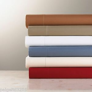 Country Living Two (2) Standard PillowCase 600 Thread Count Sateen - Cranberry