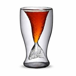 Mermaid Glassware Beer Red Wine Tea Mug Cocktail Party Bar Drinking Cup 100ml