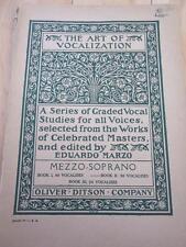 1906 THE ART OF VOCALIZATION MEZZO-SOPRANO EDUARD MARZO VOCAL STUDIES BOOK