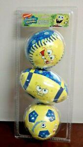 New Franklin Sports Nickelodeon SpongeBob Squarepants Foam Ball Set of 3 Balls