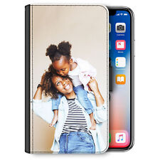 Personalised Phone Case, Custom Photo PU Leather Flip Cover For Apple/Samsung