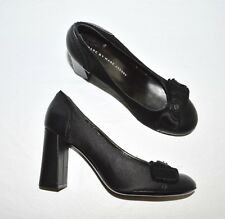 MARC BY MARC JACOBS NEW Size  6.5 M 36.5 BLACK SATIN LEATHER PUMPS SHOES ITALY