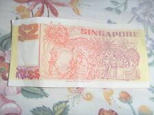 Old 2 dollar Singapore note - Ship *Purple and Orange