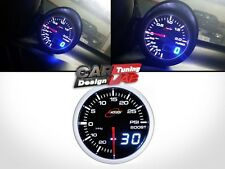 52mm 60mm Digital de calibre doble impulso Turbo Medidor White/red Humo Led Psi/bar