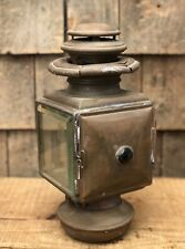 RARE Antique MAXWELL No.1 Square Brass Car Carriage Lamp Lantern Light
