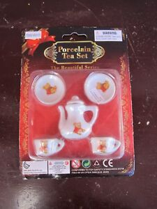 """Miniature Brand new Porcelain Tea Set """"The Beautiful Series"""" for sale by owner!!"""