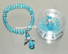 12 X BAPTISM  BRACELETS BAUTIZO RECUERDOS QUINCEANERA Blue CRYSTAL ANGEL rosary