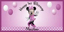 Personalized Minnie Mouse Theme Big Birthday Party Vinyl Banner Sign Decoration