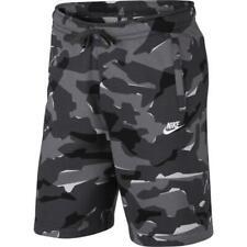 Nike Sportswear Club Fleece Camo Men's Shorts L Gray Black Multi Casual Gym New
