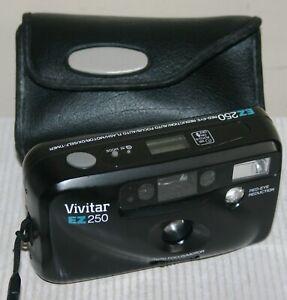 Vivitar EZ250 Auto Focus With Electronic Flash - 35mm Film Camera & Case