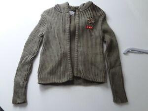 Ex BHS Zip through hooded cardigan 3/4 yrs. RRP £12.