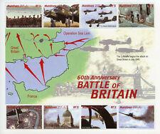 Maldives 2000 MNH WWII WW2 Battle of Britain 8v MS I Spitfire Aviation Stamps
