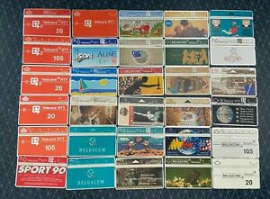 BELGIUM Phonecards - 95 Different Optical Cards - LOT 1 RTT EXPO