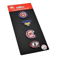 Aminco MLB Vintage Chicago Cubs 4 Pin Set Special Edition Evolution Logo