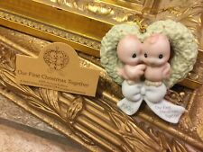 Precious Moments Our First Xmas Together 1995 142700 Ornament Lovebirds New Mb