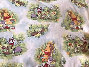 Official Disney Winnie The Pooh Cotton Fabric FQ - 51x51cm Gorgeous