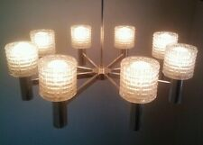 +20 VINTAGE HILLEBRAND ART DECO LIGHT HANGING FIXTURE CEILING CHANDELIER CRYSTAL