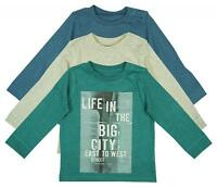 Boys Top Long Sleeve Life in the City Baby T-Shirt Pack of 3 Kids 0 to 24 Months
