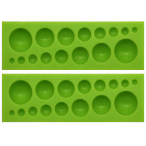 Assorted Dome Cabochon Gemstone Resin Silicone Mould 2 Pack