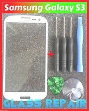 VETRO BIANCO FRONT SCREEN GLASS WHITE SAMSUNG GALAXY S3 I9300 I9301 Neo I9305