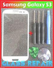 VETRO BIANCO FRONT SCREEN GLASS WHITE SAMSUNG GALAXY S3 I9300 I9301 Neo I9305