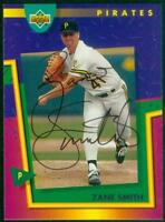 Original Autograph of Zane Smith of the Pittsburgh Pirates on a 1993 UD