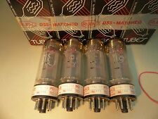 MATCHED QUAD Ruby Tubes e34l-CZ el34 nos TUBE TUBE Valvola