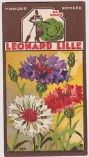 BON POINT PUBLICITAIRE LEONARD LILLE/ LYON GRAINES POTAGERES FLEURS/BLEUET
