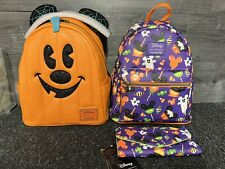 More details for mickey halloween snacks set + pumpkin mickey loungefly
