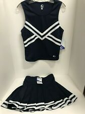 Adult Cheerleading Uniform Cheer Skirt & Shell Top Real Authentic GTM Blue White