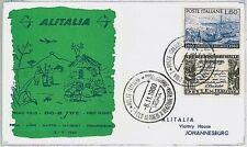 ITALIA storia postale - PRIMI VOLI - catalogo PELLEGRINI 404DD : JOHANNESBURG