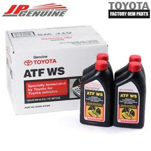 GENUINE TOYOTA LEXUS SCION OEM ATF WS TRANSMISSION OIL FLUID - 4QT 00289-ATFWS
