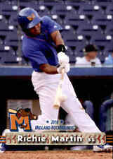 2018 Midland RockHounds Grandstand #16 Richie Martin Detroit Michigan MI Card