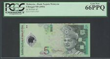 Malaysia 5 Ringgit Nd(2004) P47 Uncirculated Graded 66