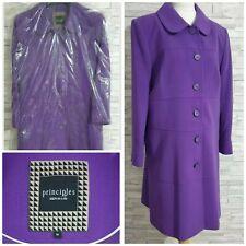 PRINCIPLES Ben de Lisi Coat 16-UK Purple RRP £120 Single-Breasted BRAND NEW