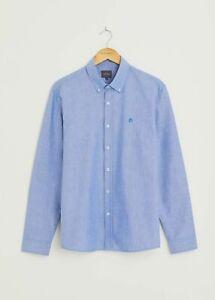 Peter Werth New Mens Castle Oxford Long Sleeve Shirt - Light Blue