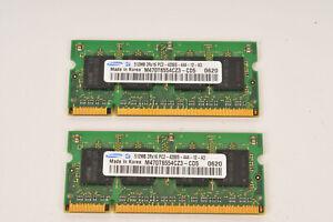 Samsung 2 x 512MB (1GB Total) 2Rx16 PC2-4200S SODIMM