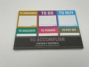 To Accomplish Productivity To Do Post-It Sticky Notes by Knock Knock New